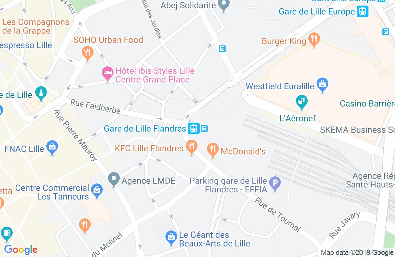 Gare de Lille Flandres, Place des Buisses, 59000 Lille
