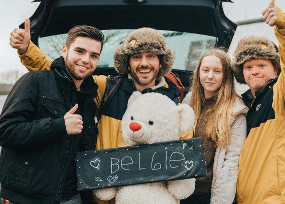 Down the snow: Dieter en Kevin komen aan in Kortrijk!